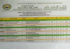 IFA-Jadwal Kuliah PAI Semester 2-1 2018